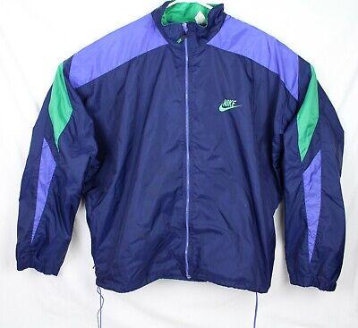 Vintage Nike Windbreaker Jacket Blue Green XL