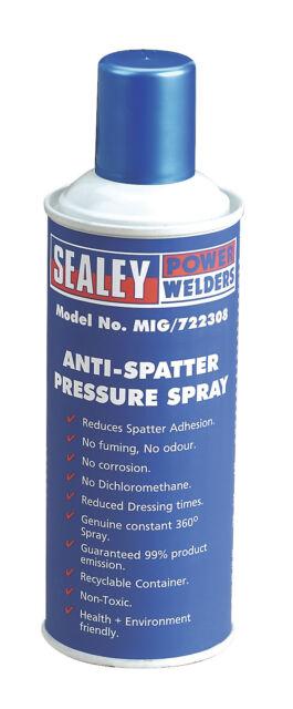 MIG/722308 Sealey Anti-Spatter Pressure Spray 300ml [MIG Accessories]