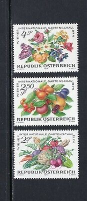Austria 1974 VEGETABLES, FRUITS AND FLOWERS SC 982-84 MNH