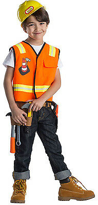 Construction Worker Costume For Kids (Dress up America Kids Construction Roleplay Worker Costume For Age)