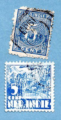 NETHERLANDS EAST INDIES stamps. Two stamps