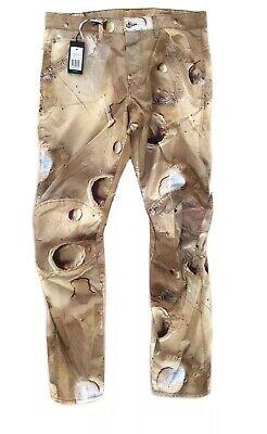 G STAR RAW 5622 3D Tapered 34 Khaki Mars Camouflage Elwood Mens Pants Pharrell W