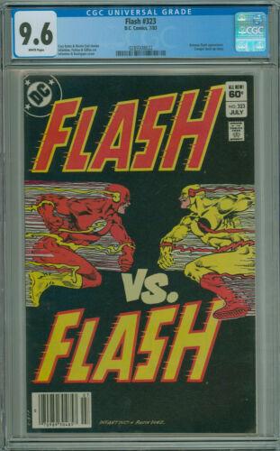 Flash #323 CGC 9.6 Newsstand Variant Flash VS Flash DC Comics 1983