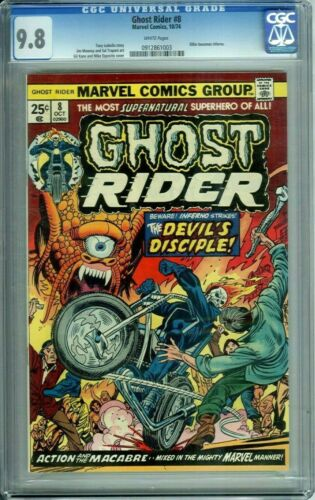 GHOST RIDER 8 CGC 9.8 WHITE PAGES HIGHEST GRADED RARE HTF Marvel Comics 1974