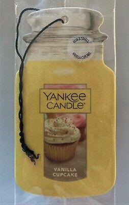 New Yankee Candle Fragrance-Infused Car Jar Air Freshener Vanilla Cupcake!