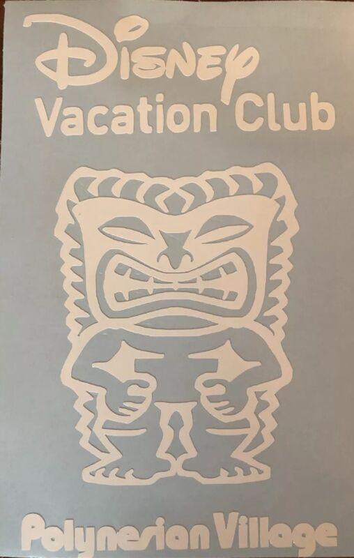 Disney Vacation Club Polynesian Village Decal DVC Disney World U PICK COLOR