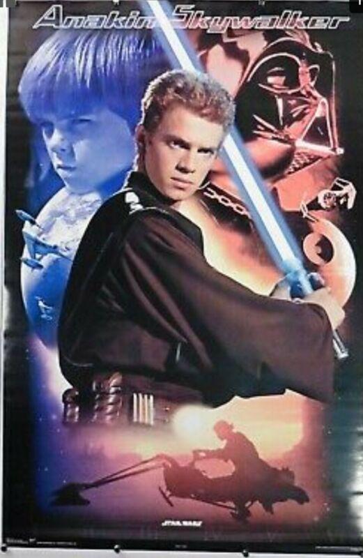 Star Wars 2002 Anakin Skywalker Movie Poster 2570 Factory Sealed