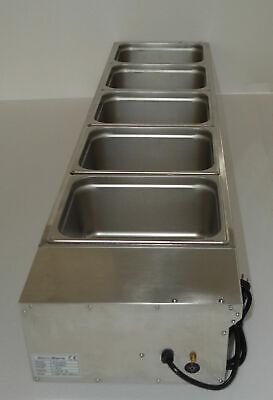 Us 110v 5-pan 6deep Countertop Steam Table Bain-marie Buffet Food Warmer New