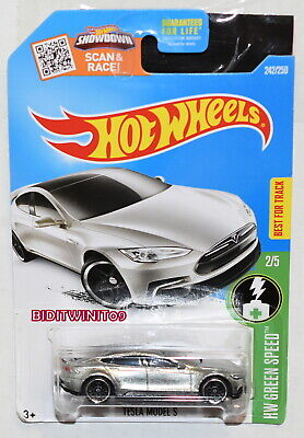 HOT WHEELS 2016 HW GREEN SPEED TESLA MODEL S ZAMAC