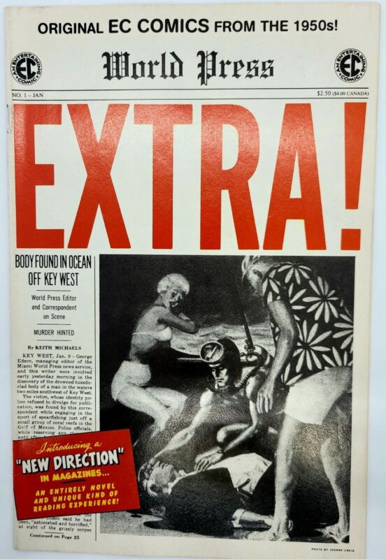 World Press Extra! #1 Original EC Comics From the 1950s! Promotional Re Release