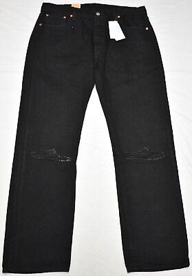 Levi's Jeans Men's Size 44x32 501 Original Straight Fit Ripp