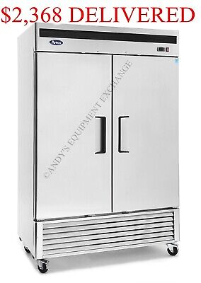 Locking Two 2 Door Bottom Mount Compressor Restaurant Cooler Refrigerator Nsf