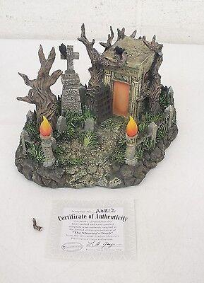 Universal Studios Monsters Hawthorne Village 'The Mummy's Tomb' Figurine LOOK