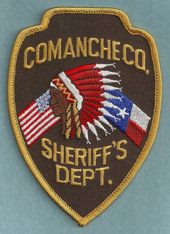 COMANCHE COUNTY SHERIFF TEXAS SHOULDER PATCH INDIAN