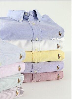 NWT Polo Ralph Lauren Men Long Sleeve Button Down Oxford/Sport Shirt MSRP -