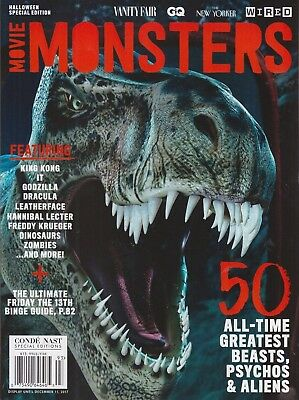 *MOVIE MONSTERS*-  HALLOWEEN SPECIAL Edition by Conde Nast 2017 NEW  - Halloween Movie Specials 2017