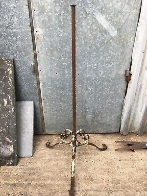 Salvaged Old Wrought Iron 3 Legged Rusty Metal Tripod Stand 110cm High