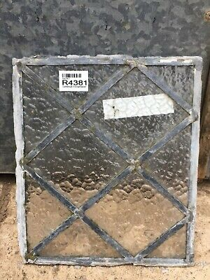 26.8cm X 22.8cm Salvaged Old Glass Antique Leaded Pane Translucent Glass Window