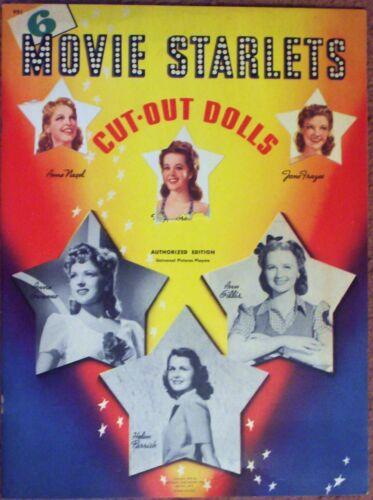 VINTAGE UNCUT 1942 MOVIE STARLETS PAPER DOLLS~#1 REPRODUCTION~NOSTALGIC/RARE SET