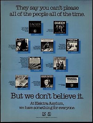 1980 EAGLES QUEEN RONSTADT ET EL ELEKTRA ALBUM PROMO AD