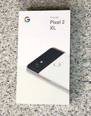 NEW Google Pixel 2 XL 128GB Dastardly & White Smartphone UNLOCKED - Google Edition