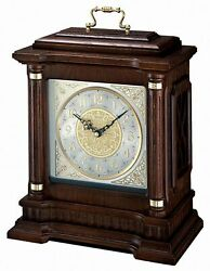 Seiko QXJ004BLH Mantel Chime Carriage Clock with Hand-Rubbed Finish