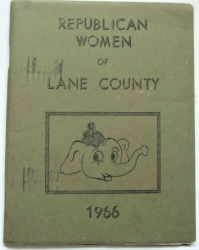 Republican Women of Lane County Eugene Oregon 1966 Members
