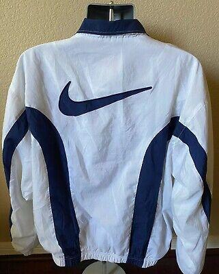 Vintage 90s Nike Large Swoosh Logo Windbreaker Track Jacket Men Size Large
