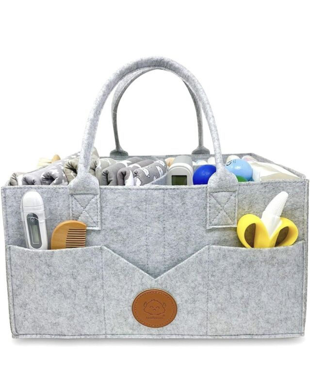 Baby Diaper Caddy Organizer - Large Diaper Organizers For Changing Table