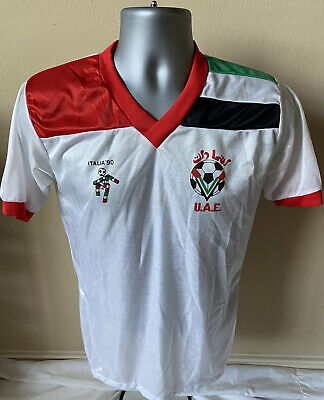 Vtg 1990 UAE United Arab Emirates Soccer Jersey Men's Small FIFA Italia RARE image