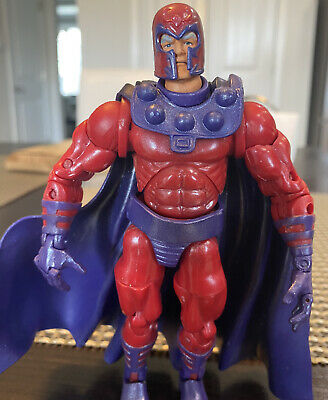 "Marvel Legends Series 3 Magneto Action Figure With Helmet Toybiz 6"" 2003 X-Men"