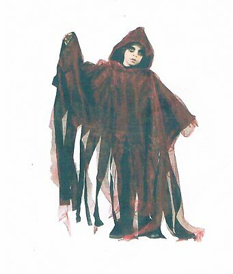 Cape Umhang-Kostüm-Halloween-für-Kinder-Maske-Zombi-Leiche-Kürbis-Gruseln rot