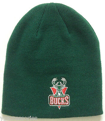NWT NBA Milwaukee Bucks Adidas Cuffless Winter Knit Hat Cap Beanie NEW!](Milwaukee Bucks Winter Hat)