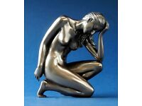 Figur L 15.00  H 10.00 cm Akt Skulptur sitzend woman poses BODY TALK 75297