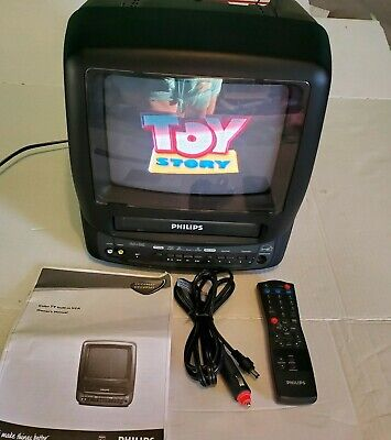 PHILLIPS TV VCR VHS Combo CCC090AT01 Car Battery Cord BUNDLE AC/DC Portable 2001