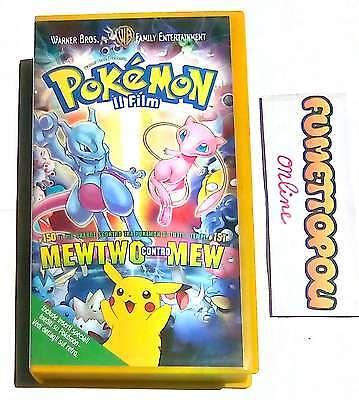 POKEMON il Film MEWTWO contro MEW VHS Warner Bros. Usata Rara OTTIMA!