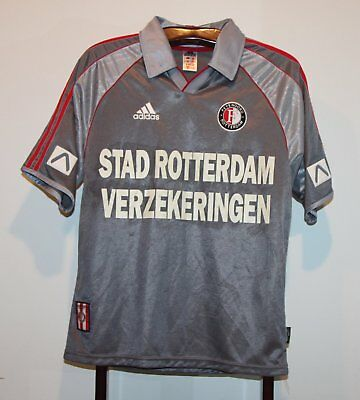 ADIDAS 1999-2000 FEYENOORD AWAY FOOTBALL SHIRT SOCCER JERSEY ADULT SMALL  image