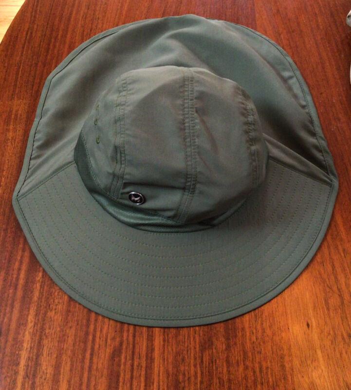 NEW MISSION Cooling Fishermen/Hiking Hat-3  7/8Wide Brim, Cools When Wet-Olive