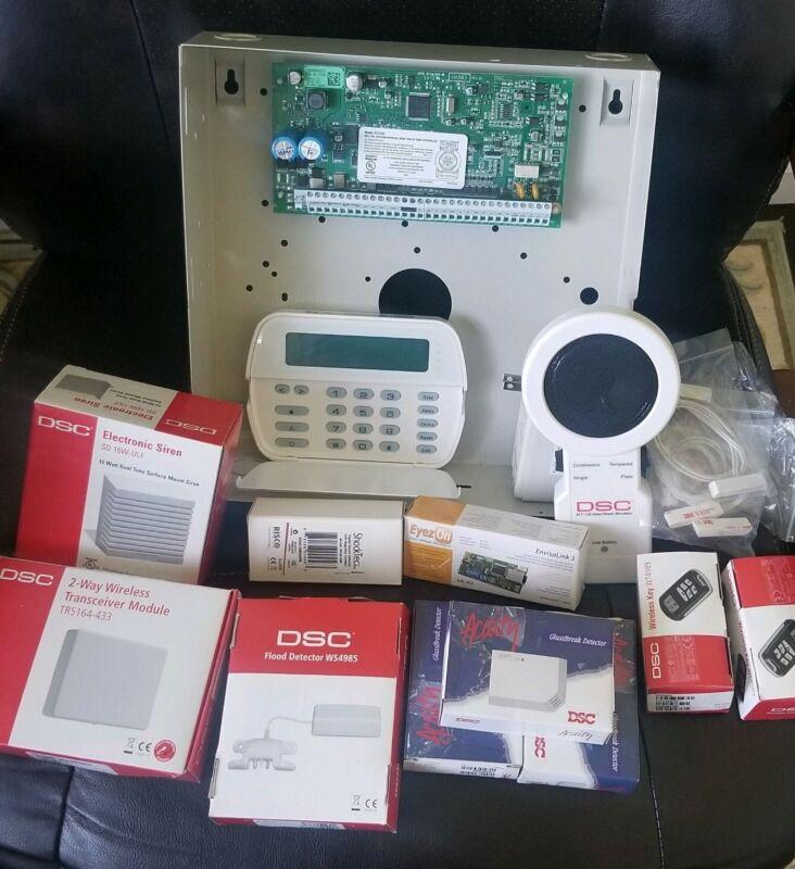 DSC PC1832 Alarm System BUNDLEwith PK5500 AFT-100 AC-100x3 TR5164-433 WS4985 etc