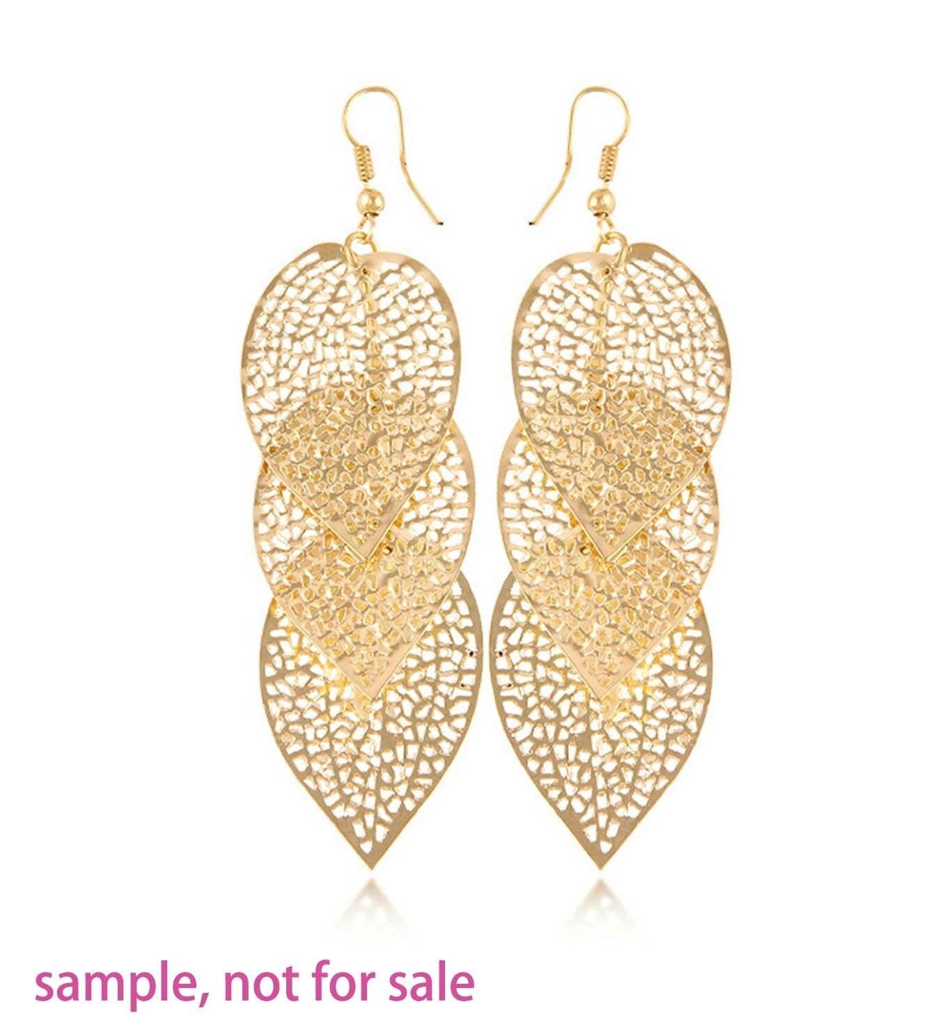 как выглядит Ювелирное изделие  20 Gold Plated Filigree Leaf Focal Pendant 37x25mm фото