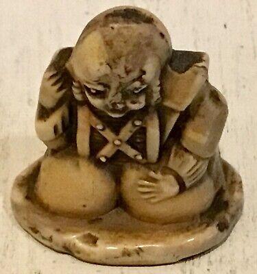 """Unique Antique Chinese Japanse carved Buddha figure sculpture 2,5 cm 1"""""""