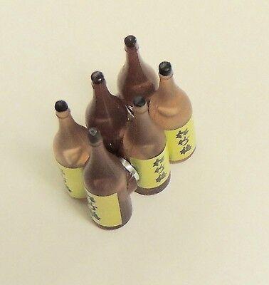 6 Wine Bottles DIORAMA ACCESSORIES  1 :18 to 1:24 Scale no box !