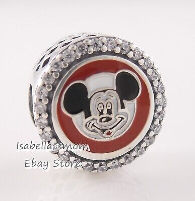 Mickey Mouse Club Charm - Disney Parks MICKEY MOUSE CLUB Authentic PANDORA Red ENAMEL Charm 7501057372311P
