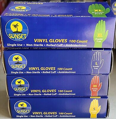 Vinyl Gloves Select Size Sm L Xl Non-latex Exam-general 100 Ct Box