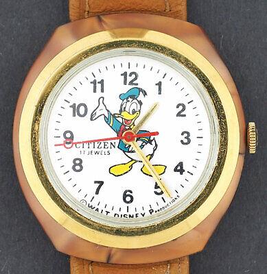 Vintage wind-up Citizen 17 Jewel Donald Duck Disney Character Watch