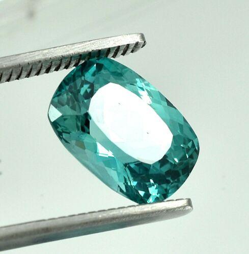 9.30 Ct Natural Blue Green Montana Sapphire Cushion Cut Loose Gemstone 14x10 MM