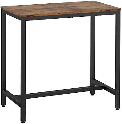 Computer Desk Writing Desk 39.3″ Tall 0.7″ Thicker Tabletop, Metal Vintage Brown Furniture