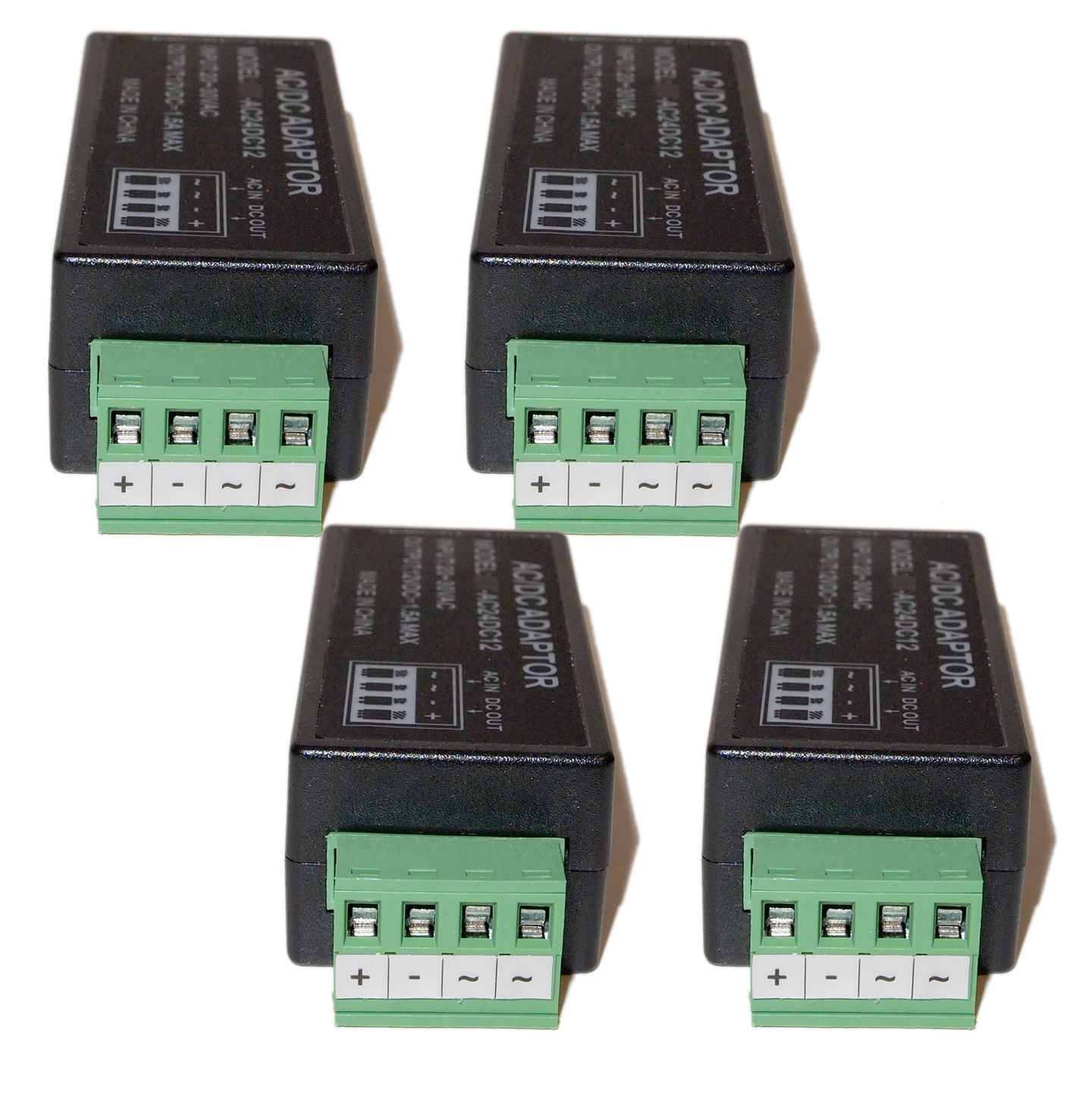 4x Power Supply Voltage Converter 24VAC to 12VDC 1 5 A