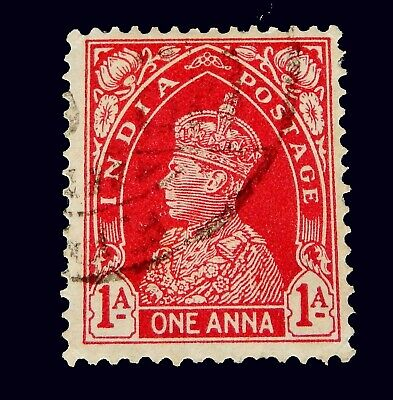 1937 India stamp  / 1 Anna/ Red   Used for sale  Shipping to India