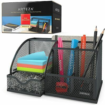 Arteza Desk Organizer Black Mesh 6 Compartments